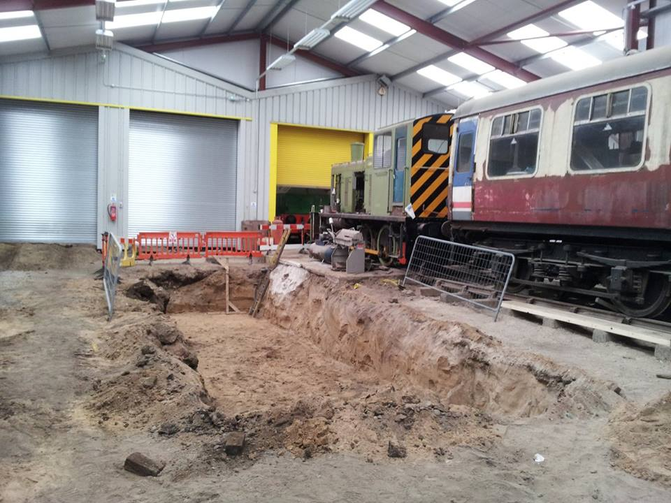 Work continues to build the new workshop at Preston.