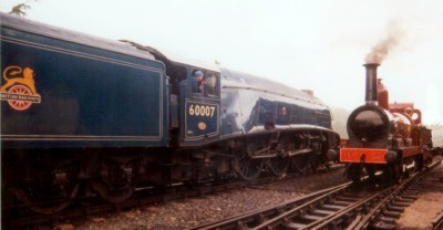 Furness Railway A5 class Number 20 alongside LNER A4 class 60007 Sir Nigel Gresley