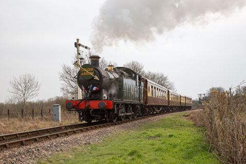 5643 on the Bluebell's Golden Arrow dining train