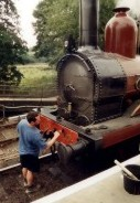 "Furness Railway Number 20 being made up for its role in ""Possession"""